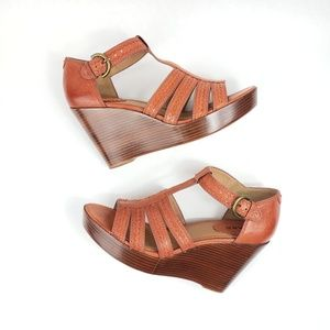 🦋SALE!🦋Trask Leather Wedge Sandal 9.5M New